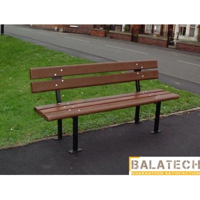 Kovová lavička s plastom Ejko