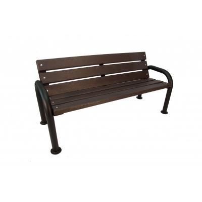 Kovová lavička s plastom Rema