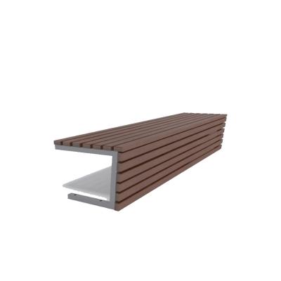 Oceľová lavička bez operadla Siena II