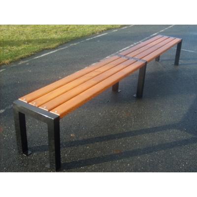 Kovová lavička bez operadla Centrum II